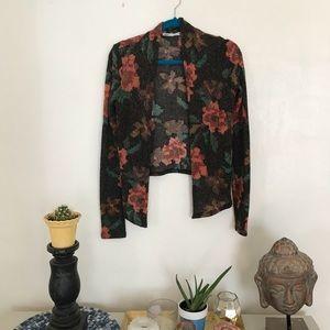 Size M Kimchi Blue black floral cardigan